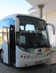 Portugal bus in Tavira bus station.